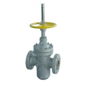 Slab Flat Cast Steel Gate Valve For Petroleum Natural Gas ( Through Conduit )